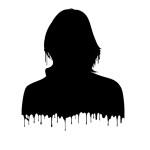 vrouwen portret als spiegel waarvan druppels vallen