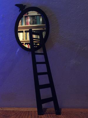 spiegel met raaf rechthoek